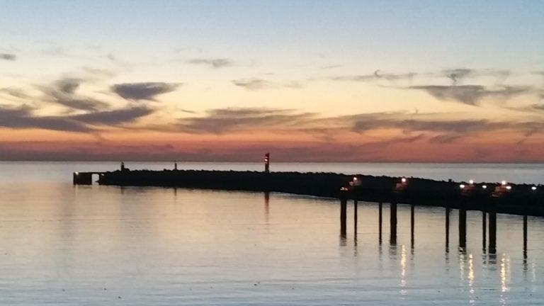 Dover Ferry Port Sunset