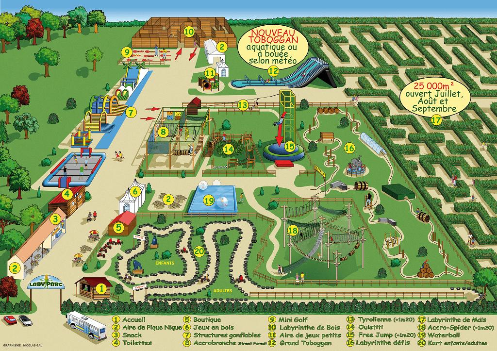 Laby Parc-Map Le Touquet