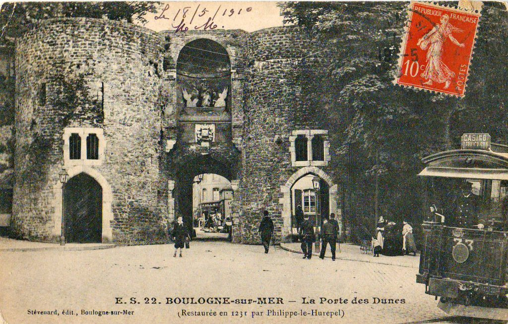 Porte des Dunes, Old Town of Boulogne, postcard 1910