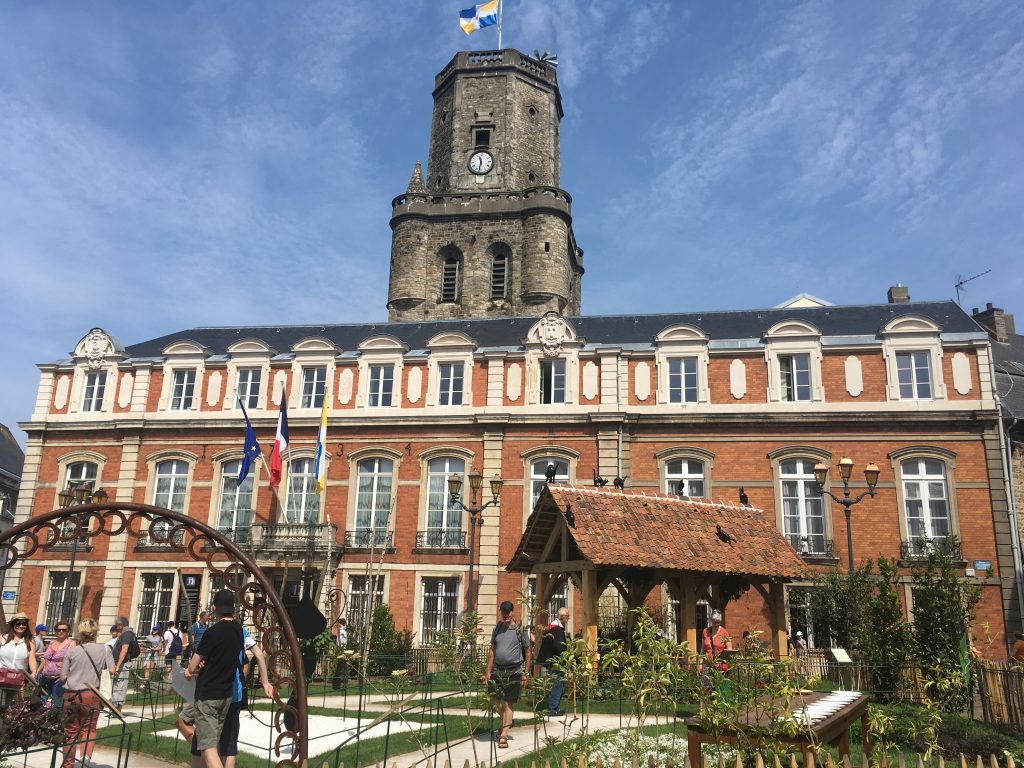 Walled City of Boulogne: the Town Hall and traditional Belfry