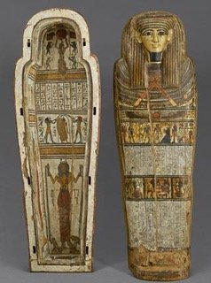 Nehemsimontus' median sarcophagus, Thebes, 25th-26th Dynasty, at the Museum of Boulogne-sur-Mer