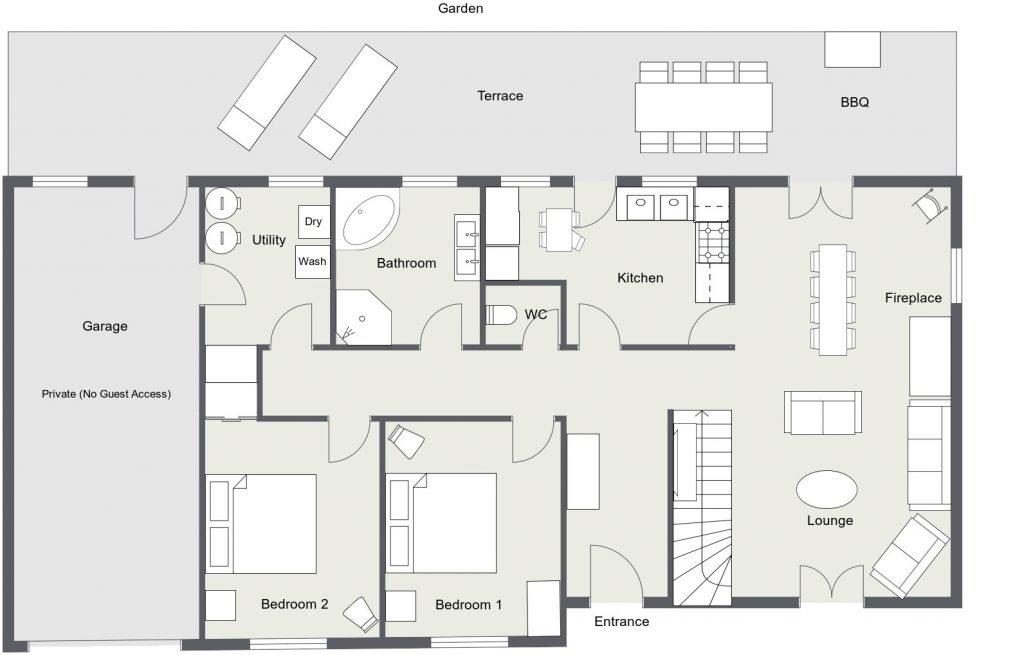 St Josse Farmhouse 2 D Floor Plan