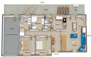 St Josse Farmhouse Ground Floor Plan