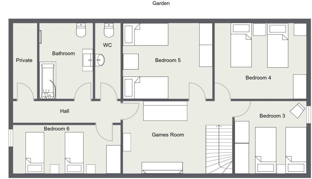 St Josse Farmhouse 1st Floor 2 d Plan